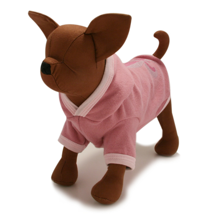 犬服のラグジュアリー ソフト フーディー [ピンク]