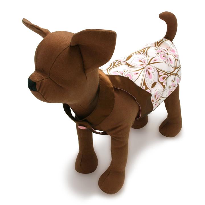 犬服のプッチーニ ドレス トップ [ピンク/ブラウン]