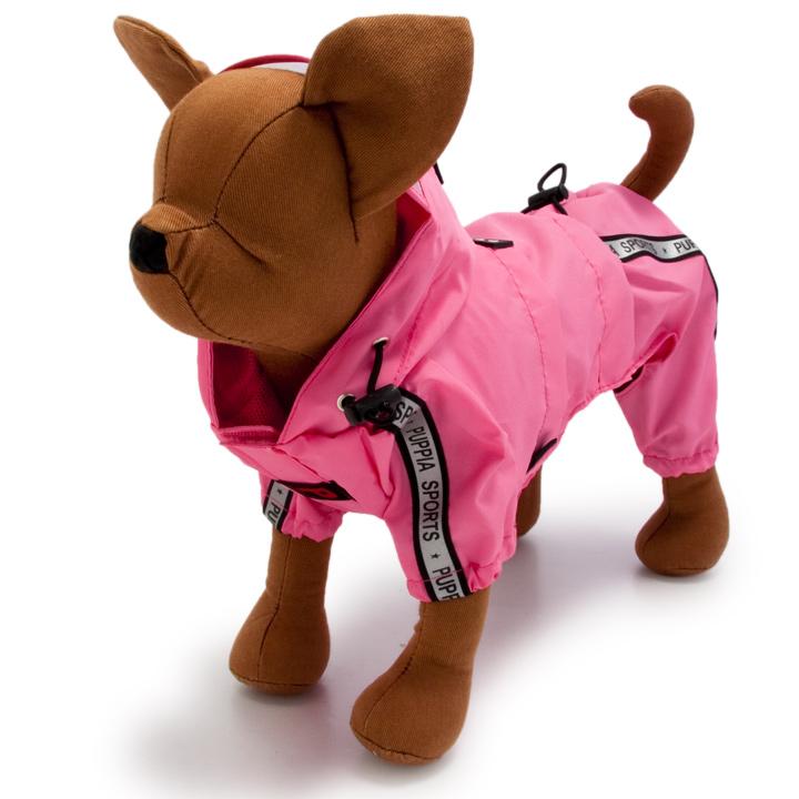 犬服のトラック レース レインコート [ピンク]